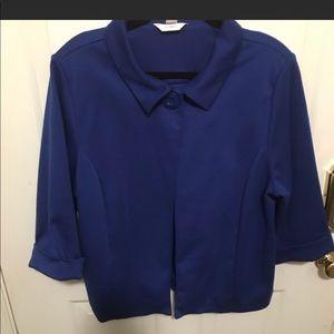 Royal Blue Cropped Jacket